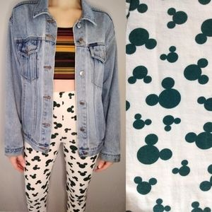 Vintage High Waist All Over Print Mickey Leggings